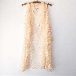 Vintage Peach Lace Cover-Up